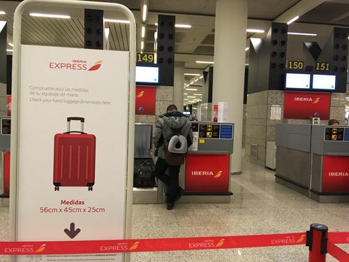 イベリア航空荷物チェック