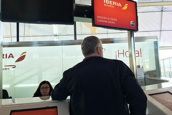 イベリア航空チェックイン