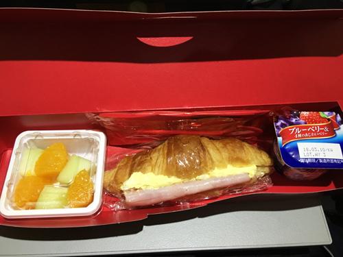 イベリア航空東京ースペイン朝食
