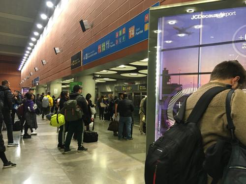 スペインマドリッド空港ターミナル移動