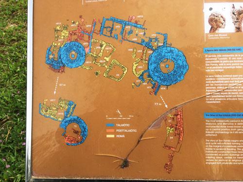 タライオット遺跡図
