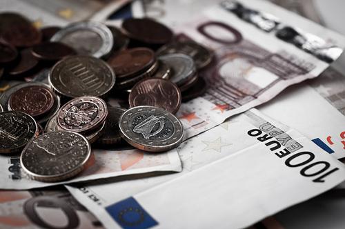 ユーロ紙幣と通貨