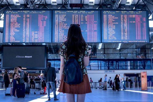 空港の女の子