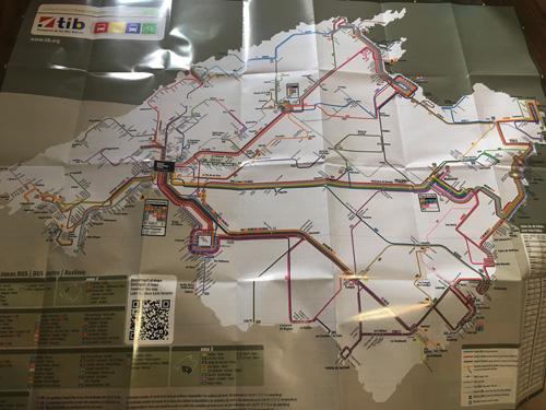 マヨルカバス路線図