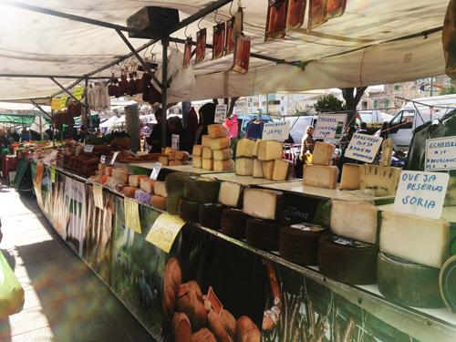 チーズとマヨルカ名物肉加工品