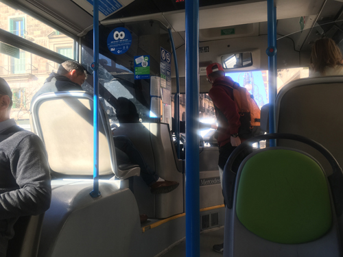 マヨルカEMTバス乗車