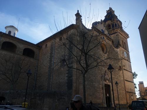 サンタマリア教会の青いタイル
