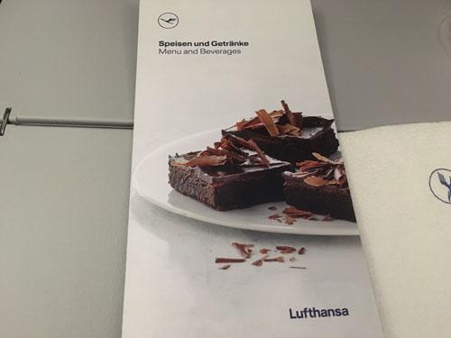 ルフトハンザ航空メニュー