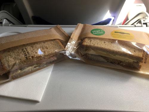 ルフトハンザ航空短距離機内食