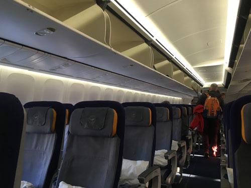 ルフトハンザ航空座席