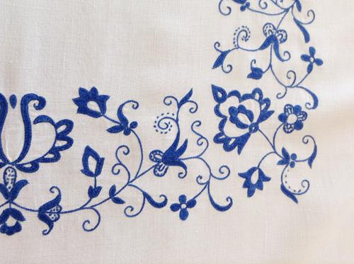 マヨルカ刺繍インディゴ
