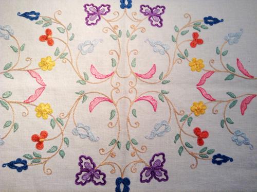 マヨルカ刺繍カラフル