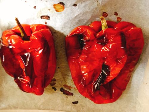 オーブンで焼いたパプリカ