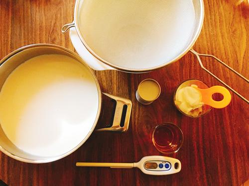 リコッタチーズ作り材料